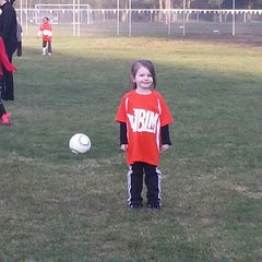 Photo taken at Mccord Soccer Field by Erin M. on 3/8/2013