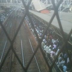 Photo taken at Dadar Railway Station by Viraj K. on 3/28/2013