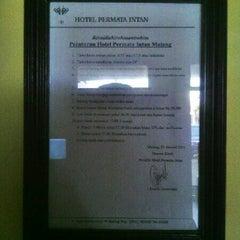 Photo taken at Hotel Permata Intan by setia1heri on 4/27/2013