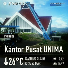 Photo taken at Kantor Pusat UNIMA by Veiby S. on 3/27/2014