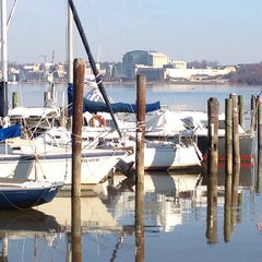 Photo taken at Belle Haven Marina by Chris K. on 12/1/2013
