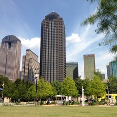 Photo taken at Klyde Warren Park by Luis A. on 7/13/2013