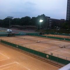Photo taken at 반포종합운동장 테니스코트 by Jinsook L. on 6/11/2012