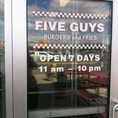 Photo taken at Five Guys by Savanah A. on 4/2/2013
