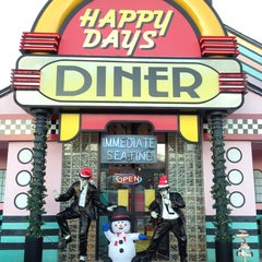 Photo taken at Happy Days Diner by Angelina G. on 12/18/2012