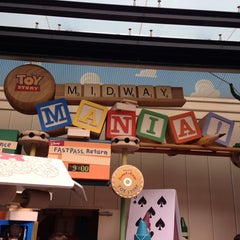 Photo taken at Toy Story Midway Mania by Terri Talley V. on 6/3/2013