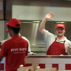Photo taken at Five Guys by Anna on 5/30/2013