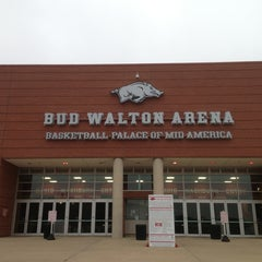Photo taken at Bud Walton Arena by Jinnings B. on 3/23/2013