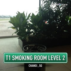 Photo taken at T1 Smoking Room by ,7TOMA™®🇸🇬 S. on 6/15/2013