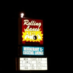 Photo taken at Rolling Lanes Bowling Alley by andrew r. on 1/8/2016