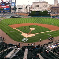 Photo taken at Comerica Park by Jennifer V. on 5/14/2013