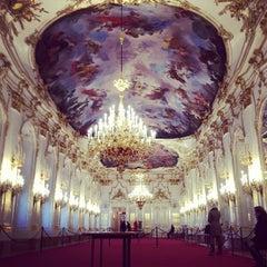 Photo taken at Schloss Schönbrunn by Alesya T. on 1/9/2013