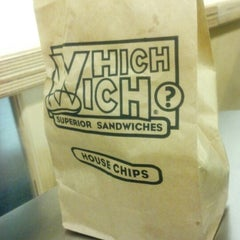 Photo taken at Which Wich? Superior Sandwiches by Ryan H. on 10/27/2012
