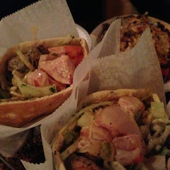 Photo taken at Mamoun's Falafel Restaurant by Jennifer M. on 5/8/2013
