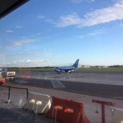Photo taken at Newcastle Airport (NTL) by Grant E. on 3/16/2013