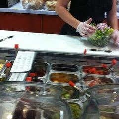Photo taken at Halfmoon Creative Salads by Meg C. on 3/23/2012