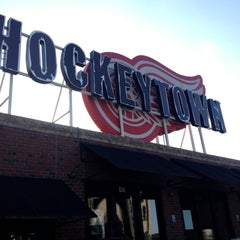 Photo taken at Hockeytown Cafe by Morgan W. on 4/21/2012