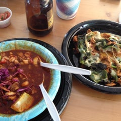 Photo taken at La Super-Rica Taqueria by Gina W. on 7/8/2012