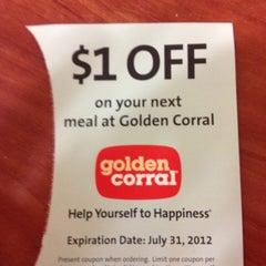 Photo taken at Golden Corral by Garret M. on 4/28/2012