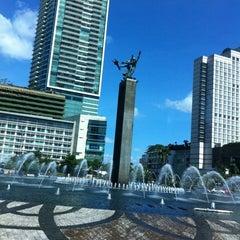 Photo taken at Jalan Jenderal Sudirman by Tf T. on 3/24/2012