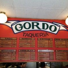 Photo taken at Gordo Taqueria by Dan on 4/6/2012
