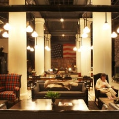 Photo taken at Ace Hotel Lobby Bar by Constantinos K. on 3/15/2012