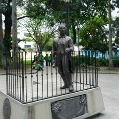 Photo taken at Plaza Bolívar de Naguanagua by Carlos A. on 8/24/2012