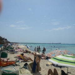 Photo taken at Platja de Ses Covetes by Stefano C. on 8/20/2012