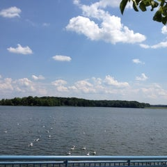 Photo taken at Spillway at Pymatuming State Park by Tony C. on 7/30/2012