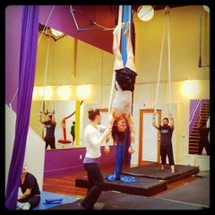Photo taken at Night Flight Aerial Arts Studio by Megan S. on 5/29/2012
