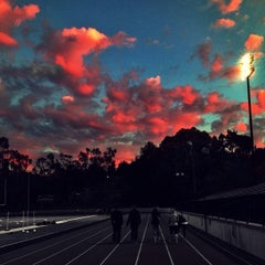 Photo taken at Foothill College Football Field by Ali S. on 12/19/2013