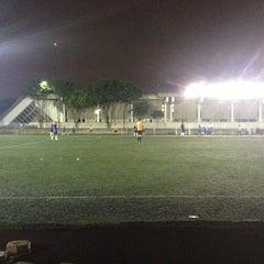 Photo taken at Cancha de Futbol de la Delegación Benito Juarez by Marthely N. on 7/5/2013