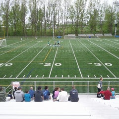 Photo taken at Stade Alphonse-Desjardins by Steven C. on 5/10/2013