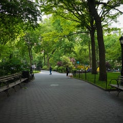 Photo taken at Madison Square Park by Jeffrey Z. on 5/28/2013