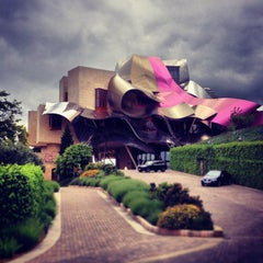 Photo taken at Hotel Marqués de Riscal by Juan Carlos G. on 6/2/2013