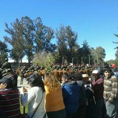 Photo taken at Parque Escuela Normal by Annie Marcela Alejandra C. on 9/18/2013