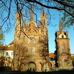 Photo taken at Šv. Onos Bažnyčia   St Anne's Church by Savserg77 on 5/5/2013