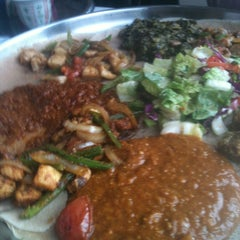 Photo taken at Demera Ethiopian Restaurant by Cynthia C. on 10/6/2012