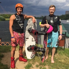 Photo taken at Траектория Wake Park by Julia L. on 7/5/2015