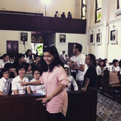 Photo taken at Regina Pacis Bogor by Aldan D. on 4/29/2015