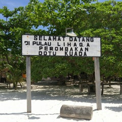 Photo taken at Pulau Lihaga (Lihaga Island) by Sergei S. on 6/27/2015