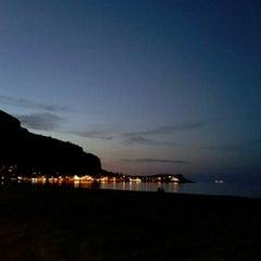 Photo taken at Spiaggia di Mondello by Serena B. on 4/16/2013