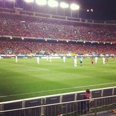 Photo taken at Estadio Vicente Calderón by Roch D. on 10/16/2012