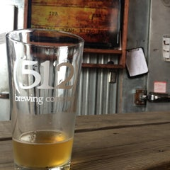 Photo taken at (512) Brewing Company by Brittany K. on 2/21/2015