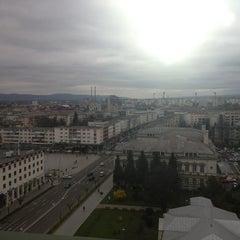 Photo taken at Hotel Decebal by Marius M. on 3/26/2014