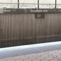 Photo taken at Southern Avenue Metro Station by Juanita on 5/16/2013