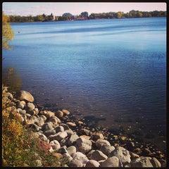 Photo taken at Lake Calhoun by Stephanie R. on 10/26/2013