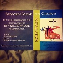 Photo taken at Bedford Community Church by Chris G. on 9/22/2012