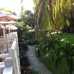 Photo taken at Sandals Halcyon Beach Resort by Andrew B. on 5/11/2013