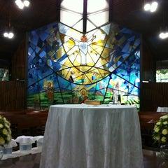 Photo taken at Capela da USJT by Ismael N. on 1/20/2013
